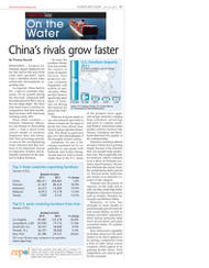 Furniture Today's On the Water Report, Third Quarter, 2012