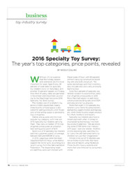 Playthings Specialty Toy Survey, 2016