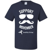 Movember/Healthy Living T-shirt-Size SMALL