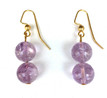 #A79 Double Amethyst Earrings $35. Available in post, wire or clip on