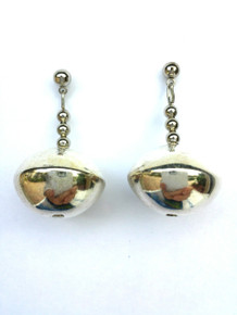 #A1 Oval Silver Earrings $25.