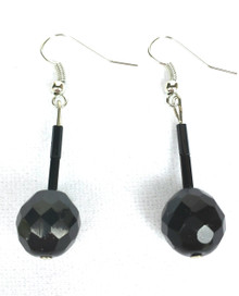 #A71 Faceted Black Austrian Crystal $35. AVAILABLE IN WIRE, POST OR CLIP ON