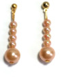 #A11 Coral Pearl Earrings work perfectly with this necklace  $25. Available in Post, Wire or Clip on
