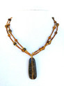 "#AN87 Beautiful  and Delicate Necklace made with Carved Semi-Precious Tiger Eye with Double Strand of Tiger Eye and Glass Beads. Wear it with pride or give it as a gift to someone special  Price: 18"" @ $48.  , 20"" @ $50.  25"" @ $68."