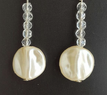 #A81 Delicate and Beautiful French Pearls with tiny faceted crystal $35. Available in Post, wire, or clip on