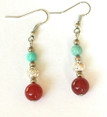 #A86 Earrings, Jasper and Turquoise, Silver $35.