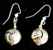 #B6 Textured Silver and Faceted Black earrings $25.Available in wire, post or clip, specify when ordering