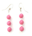 Vivid Faceted Pink Earrings #B7  $25.  May be ordered in wire, post or clip on , please specify on order