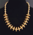 #AN9 A Must Have Necklace That Can Take You Anywhere. To the Office, To a  Party or a Date or throw on with a pair of jeans. It all works.  Big Bold Bright Gold Disks with Etched gold  Accent Beads  Price $75. Length 22 inches Available in custom size to fit your needs for a slight extra charge