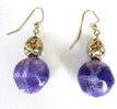 #A77 Purple and Silver Earrings $25. Earrings may be ordered in Post, wire or clip on