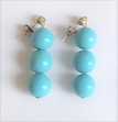 #A60 TURQUOISE EARRINGS $25.  Available in clip on, wire or post