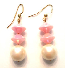$A76 Vibrant Pink Earrings make a delicious Fashion Color Accent $25. Available in post, wire or clip on