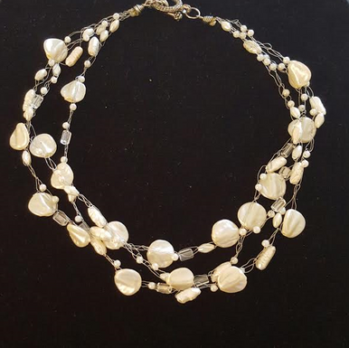 "#AN78 Delicate and Classic Multiple Strands of Hand-Crocheted French Pearls  Price  18"" @ $150. --20"" @ $155.  --  25"" @ $165."