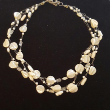 """#AN78 Delicate and Classic Multiple Strands of Hand-Crocheted French Pearls  Price  18"""" @ $115. --20"""" @ $120.  --  25"""" @ $135."""