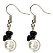 #A85 To Match Pearl and Onyx Earrings $25. Available in Post, Wire or Clip On
