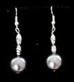 #A19 Large Gray Pearl Earring $25. Available in Post, Wire or Clip On