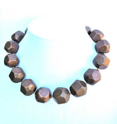 "#AN30 Large Chunky Bronze Necklace Makes a Statement and Fills in the Neckline 18"" $65.  or  20""$70."