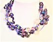 "#AN46 Lightweight  Multiple strands of Translucent Purple Beads with Frosted Faux Crystal and Pearls 18 inches $98. ---20"" $115.---25"" @ $ 125.  30"" @ $135."