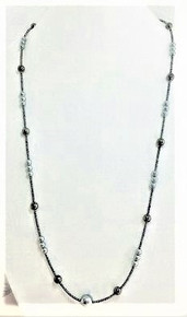 "#BN55 Simple and Elegant Dark and Light Gray Pearls  Very Lightweight  18"" @ $50., 20"" @ $55. 25"" @ $60. 30"" @ $75."