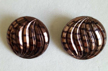 #AA14. LIGHTWEIGHT DARK BRONZE BUTTON STYLE EARRING $25. AVAILABLE IN POST OR CLIP ON
