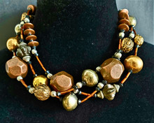 "#AN68 MIXED METALS A WONDERFUL STATEMENT NECKLACE! PRICE: 18"" $155. , 25"" $175., 30"" $195."