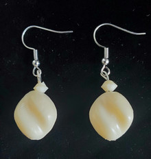 #A588 TWISTED BONE WINTER WHITE EARRING $25.   AVAILABLE IN WIRE, POST OR CLIP ON