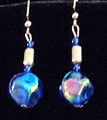 #AN3 LIGHTWEIGHT ROYAL BLUE LACQUER AND SILVER EARRINGS.  $25.  AVAILABLE IN WIRE, POST AND CLIP ON