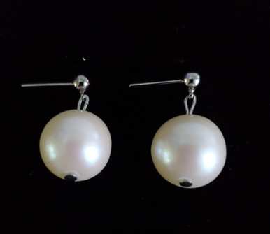 #A05 ELEGANT LARGE CREAMY PEARL EARRINGS  $35.  AVAILABLE IN WIRE, POST OR CLIP ON