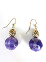 #A77  Purple and Silver earrings $25. Available in wire, post or clip on