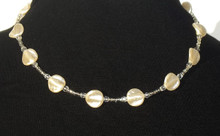 "#AN22 The Ultimate in Simplicity, Delicate, Light weight , Beautiful, Lustrous, French Pearls with tiny Crystal accents. This is a great Choker to wear everywhere, give as a gift..it is an affordable accessory that everyone loves. Price:  18"" @ $65.,  20"" @ $68.  25"" @ $70."