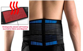 Lower Back Support Brace Belt with Magnets and Heat, Heavy Duty.