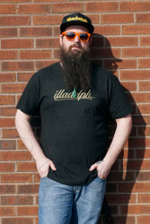 Illadelph - Black T-Shirt with Fancy Gold Logo