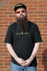 Illadelph - Black T-Shirt with Rasta Logo