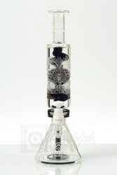 Illadelph x 503 Liberty - Custom Micro Coil Beaker Oil Rig Day of the Dead Collab (8 of 10) - Front View