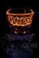 "Manifest Glassworks - 7mm 15"" Single Stage Straight with UV Blue and Orange Lion UV Slide"