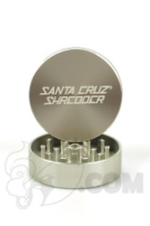 Santa Cruz Shredder - 2 Piece Medium Silver Grinder