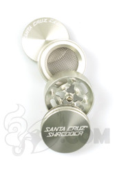 Santa Cruz Shredder - 4 Piece Small Silver Grinder