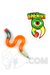 Sherbet Glass - Wavy Orange Glass Pencil Dabber