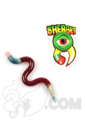 Sherbet Glass - Wavy Red Glass Pencil Dabber