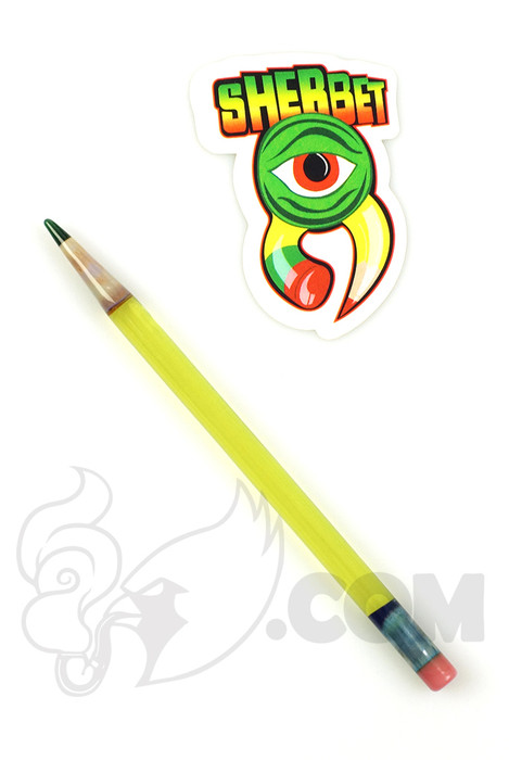 Sherbet Glass - Illuminati Glass Pencil Dabber with Dark Green Tip