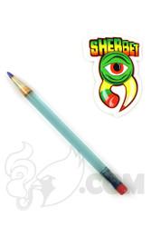Sherbet Glass - Glass Pencil Dabber Light Blue with Blue Tip