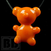 Crumb Glass - Orange Crumby Bear Pendant