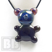 Crumb Glass - Purple Crumby Bear Pendant