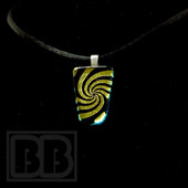 Joint Forces - Yellow Swirl Dichro Pendant