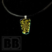 Joint Forces - Yellow Wig-Wag Dichro Pendant