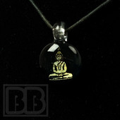 Peaselburg Glassworks - Small Dichro Buddha Glass Pendant