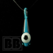 Down Neck - Blue Eye Ball UV Glass Pendant