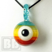 Down Neck - Rainbow Eye Ball Pendant