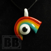 Down Neck - Glass Rainbow Pendant