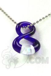 Natey Love - #259 Brilliant Blue China Infinity Pendant Front